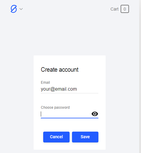 Create a password for your Dappos account