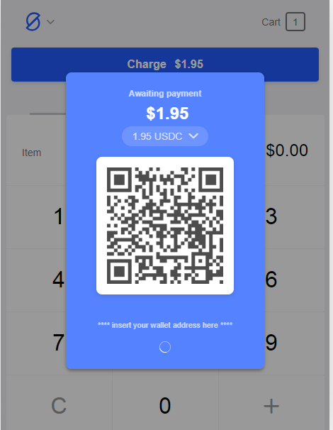 Dappos will display a QR code for the customer to scan