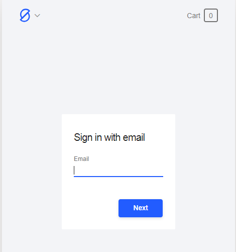 Enter your email to sign in or create a new account